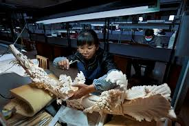 Ivory Carving Factory in China